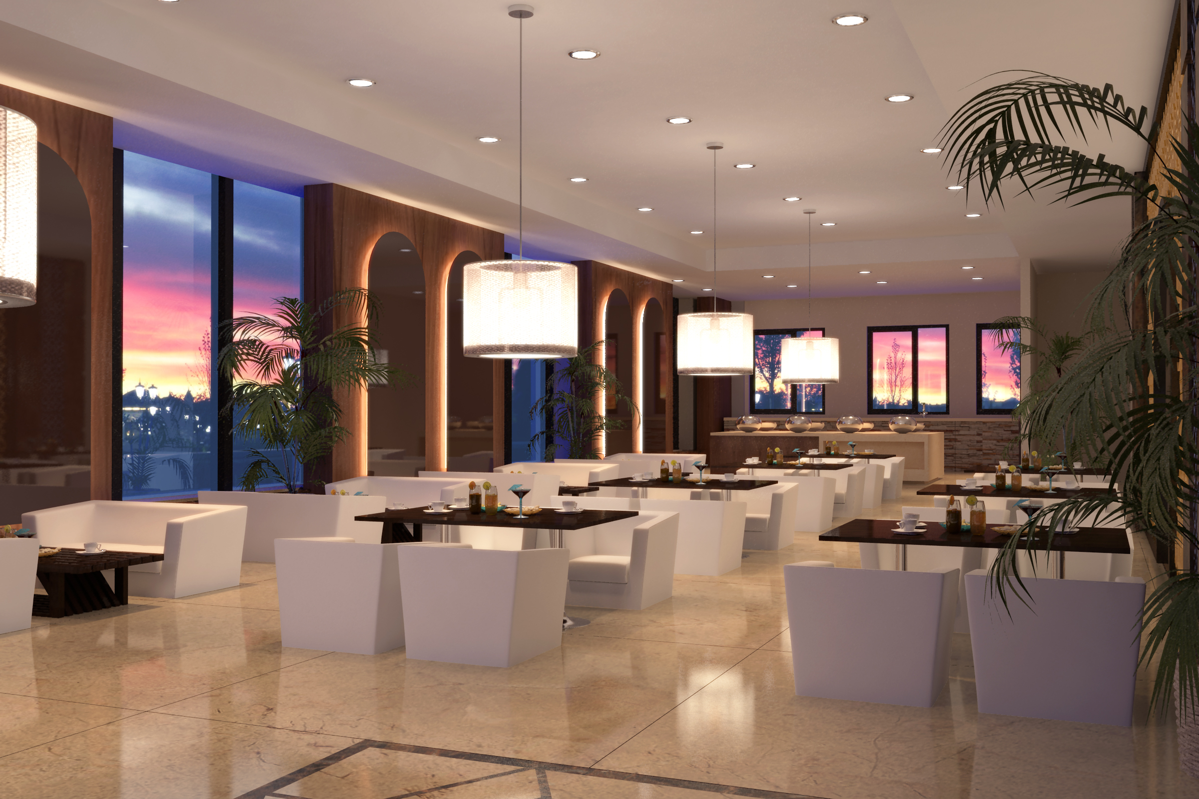 Exceptional Description: A Double Height Feature Wall Which Is A Composition Of  Multiple Stone Pieces Put Together At Different Levels Forms The Attraction  Of The Lobby ...